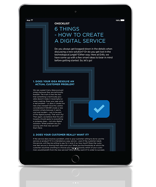 Cover - Checklist - 6 things you should think about when developing a digital service